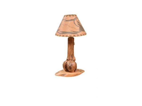 Burled Pine Table Lamp